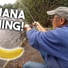 Fishing with a BANANA!!